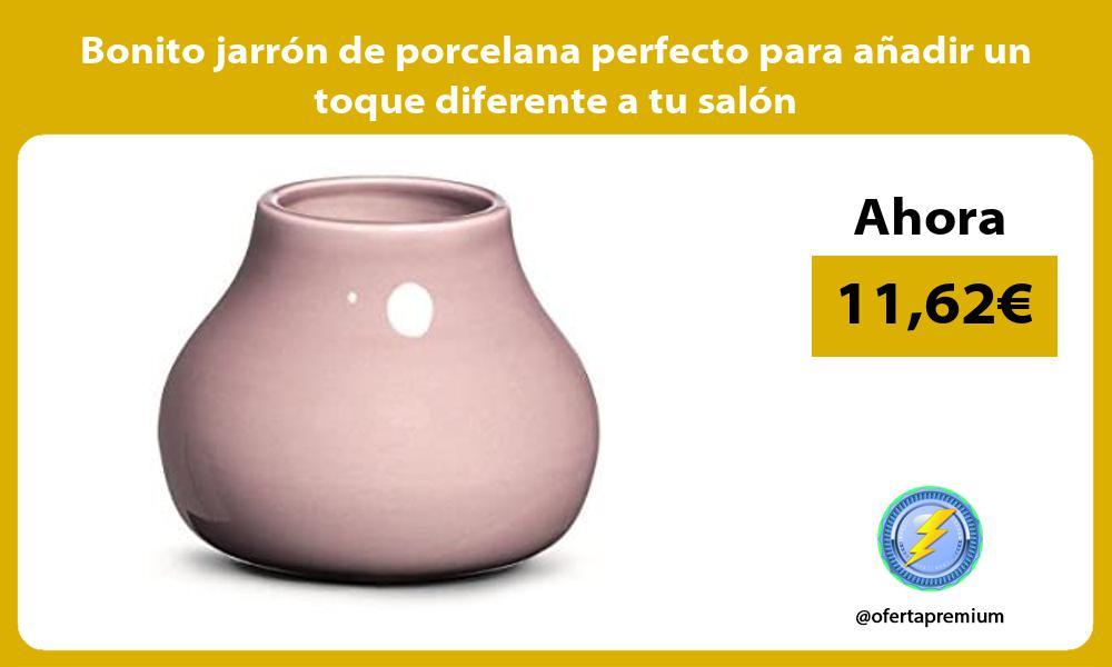 Bonito jarrón de porcelana perfecto para añadir un toque diferente a tu salón