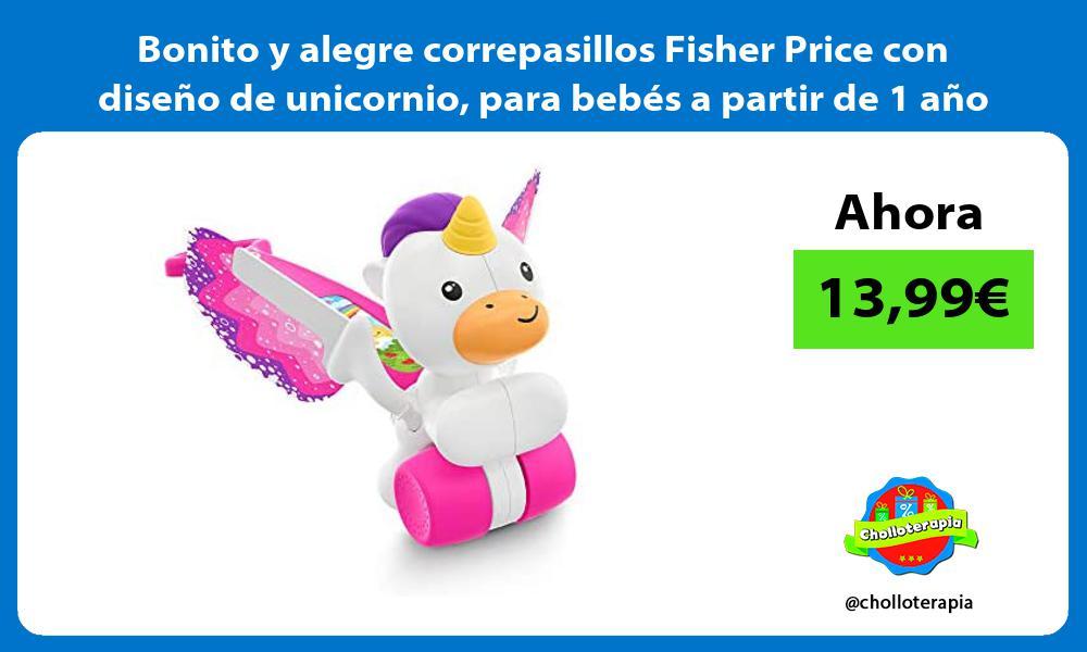 Bonito y alegre correpasillos Fisher Price con diseño de unicornio para bebés a partir de 1 año