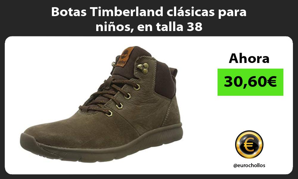 Botas Timberland clásicas para niños en talla 38