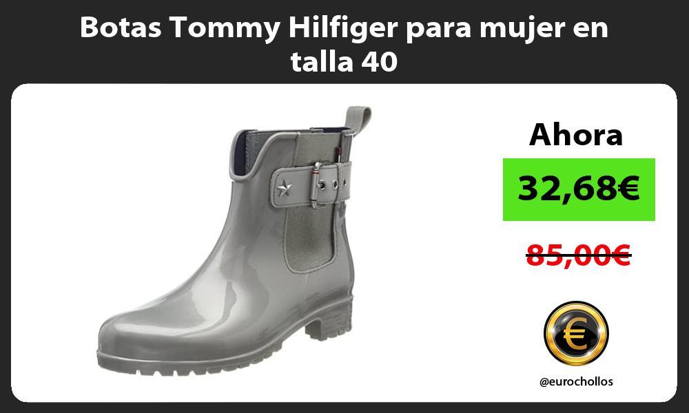 Botas Tommy Hilfiger para mujer en talla 40