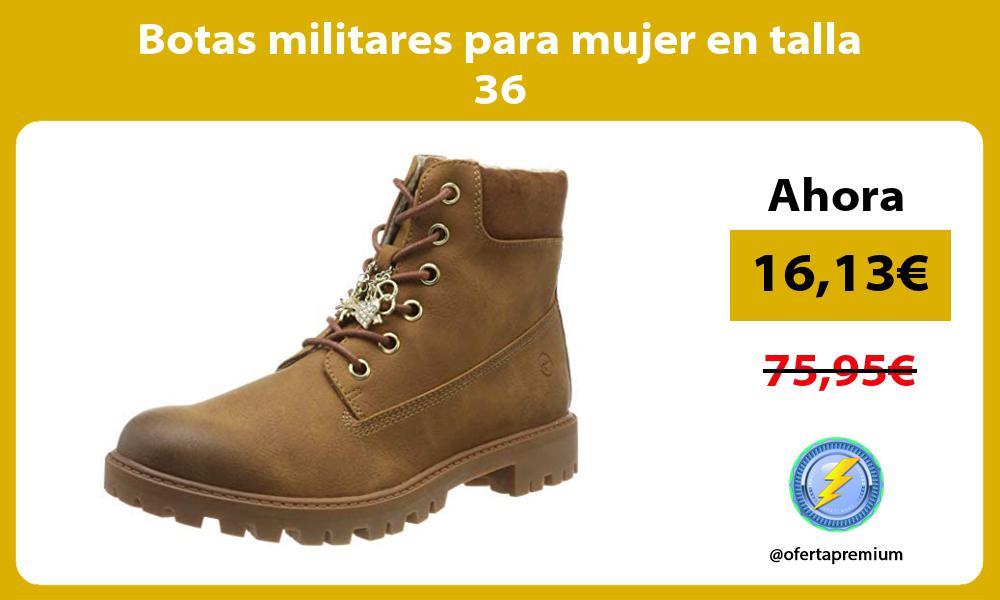 Botas militares para mujer en talla 36