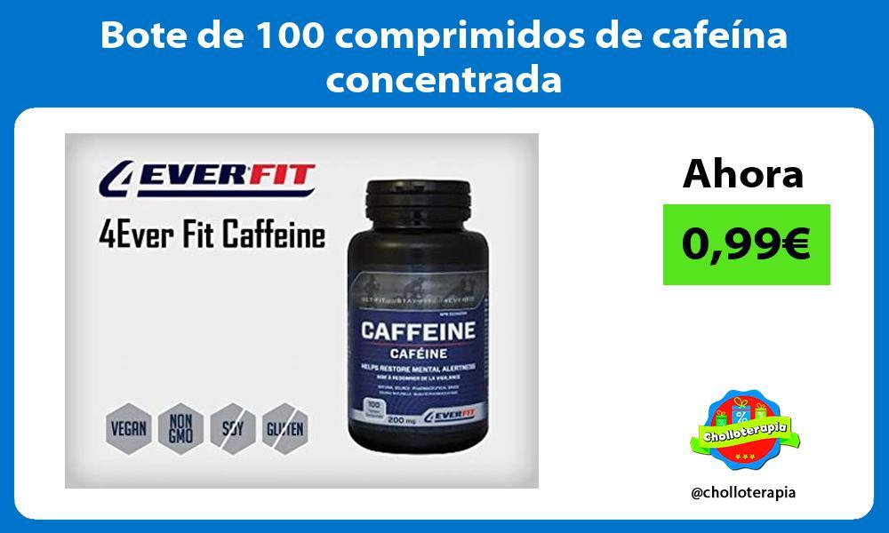 Bote de 100 comprimidos de cafeína concentrada