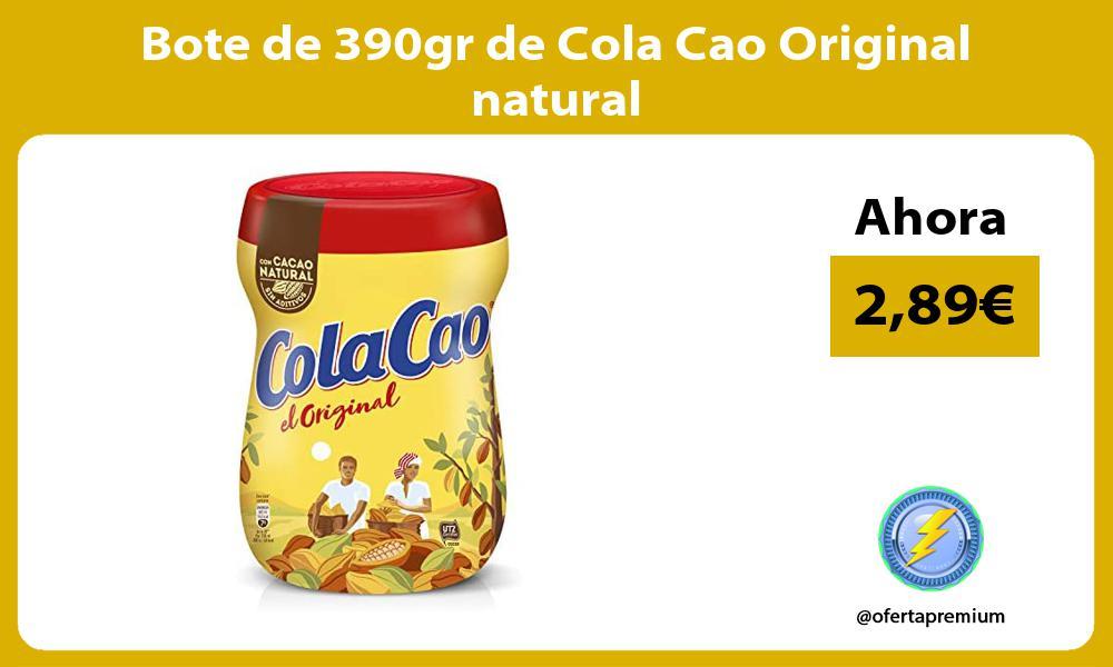Bote de 390gr de Cola Cao Original natural