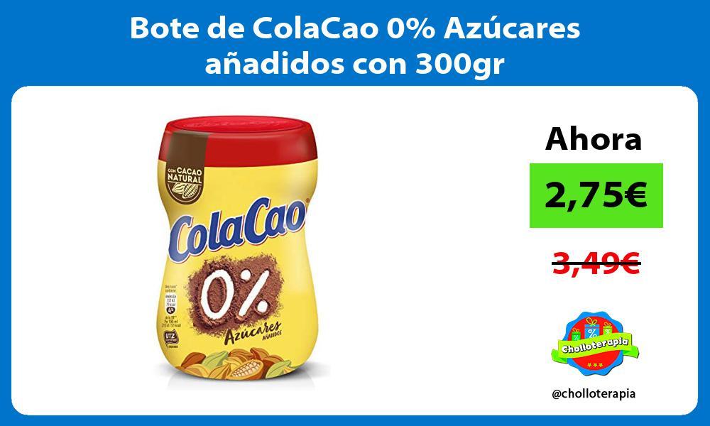 Bote de ColaCao 0 Azúcares añadidos con 300gr