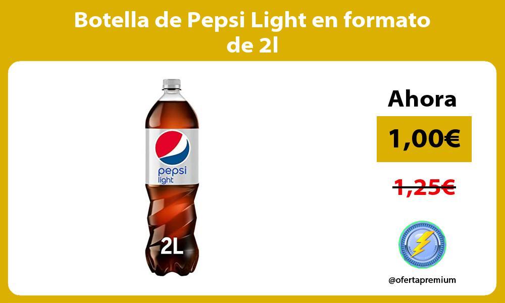 Botella de Pepsi Light en formato de 2l