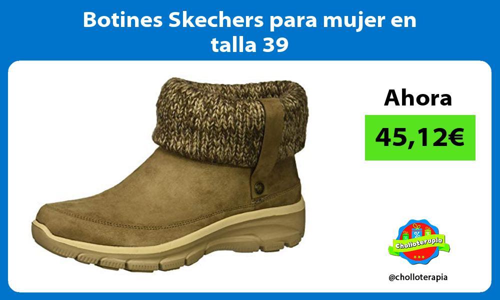 Botines Skechers para mujer en talla 39