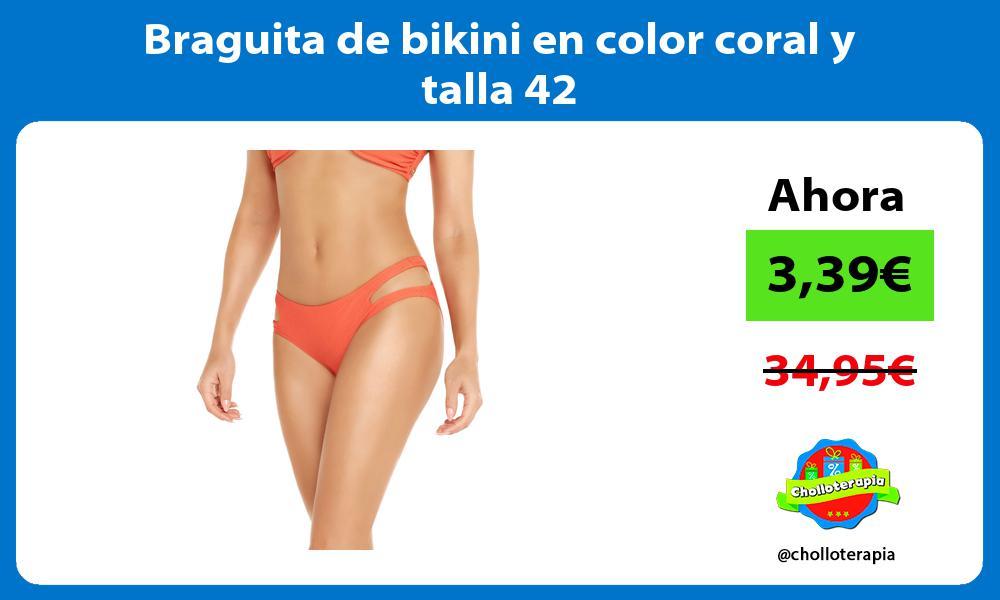 Braguita de bikini en color coral y talla 42