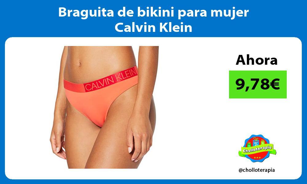 Braguita de bikini para mujer Calvin Klein
