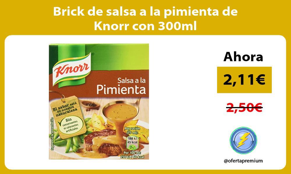 Brick de salsa a la pimienta de Knorr con 300ml