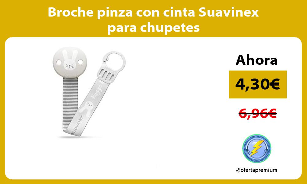 Broche pinza con cinta Suavinex para chupetes