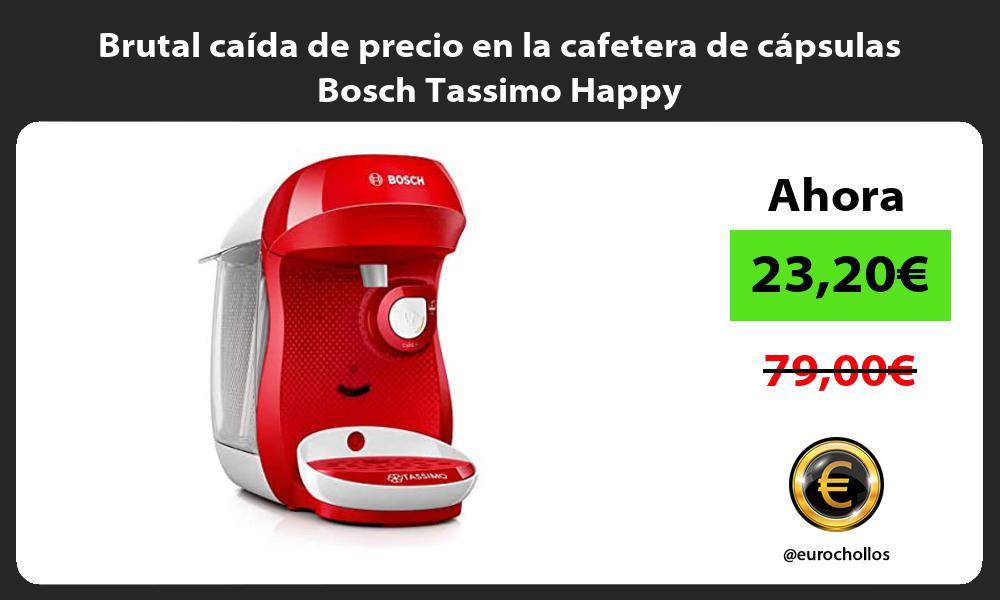 Brutal caída de precio en la cafetera de cápsulas Bosch Tassimo Happy