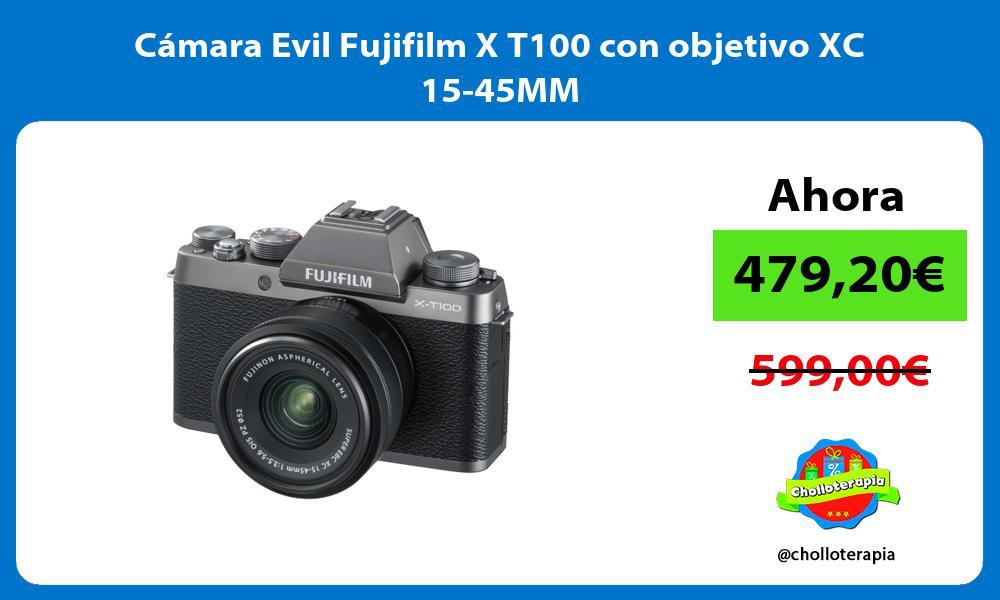 Cámara Evil Fujifilm X T100 con objetivo XC 15 45MM