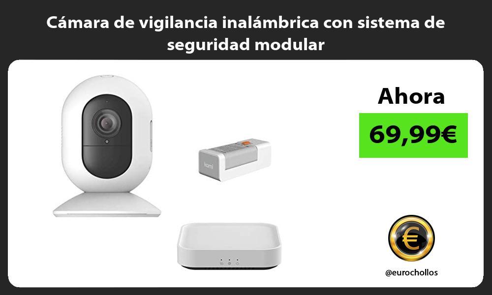 Cámara de vigilancia inalámbrica con sistema de seguridad modular
