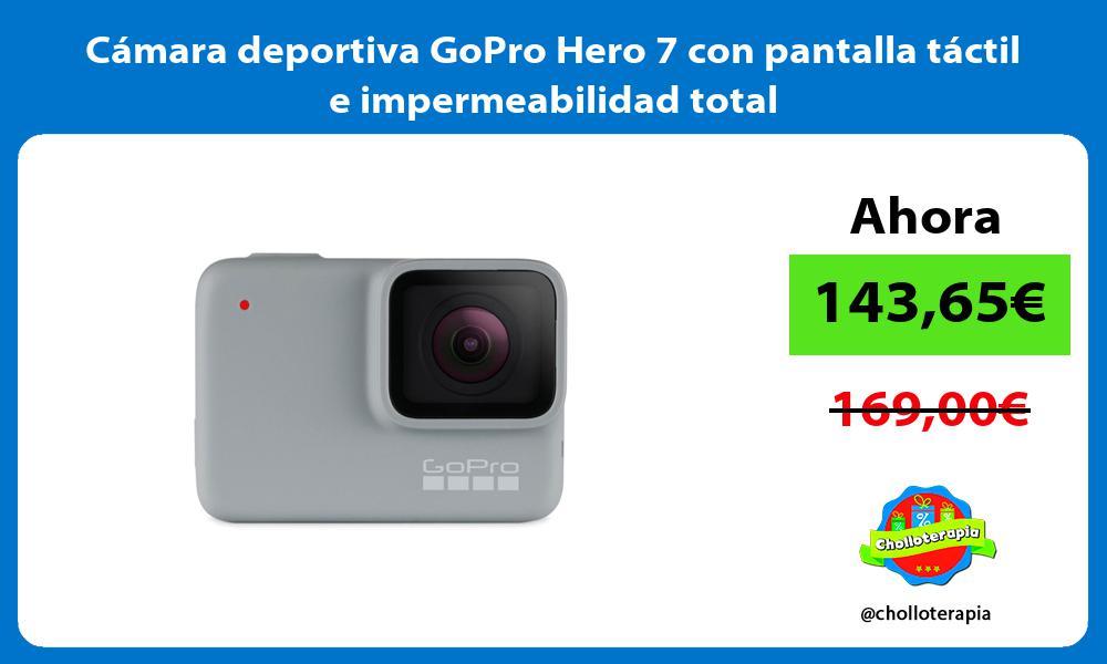 Cámara deportiva GoPro Hero 7 con pantalla táctil e impermeabilidad total