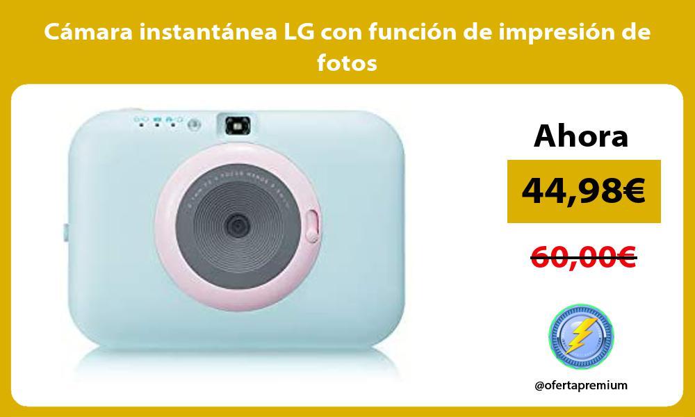Cámara instantánea LG con función de impresión de fotos