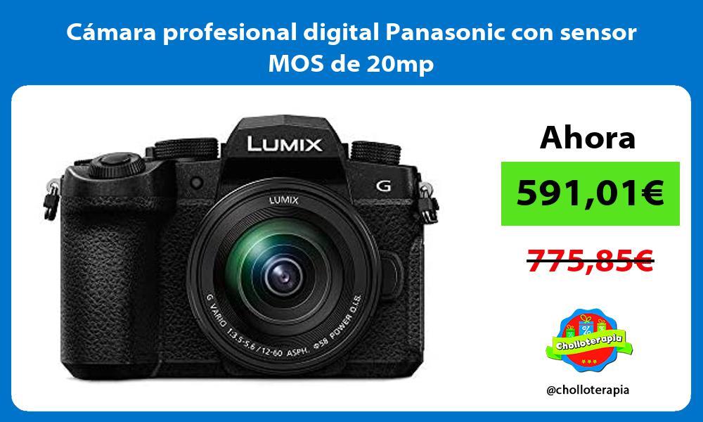 Cámara profesional digital Panasonic con sensor MOS de 20mp