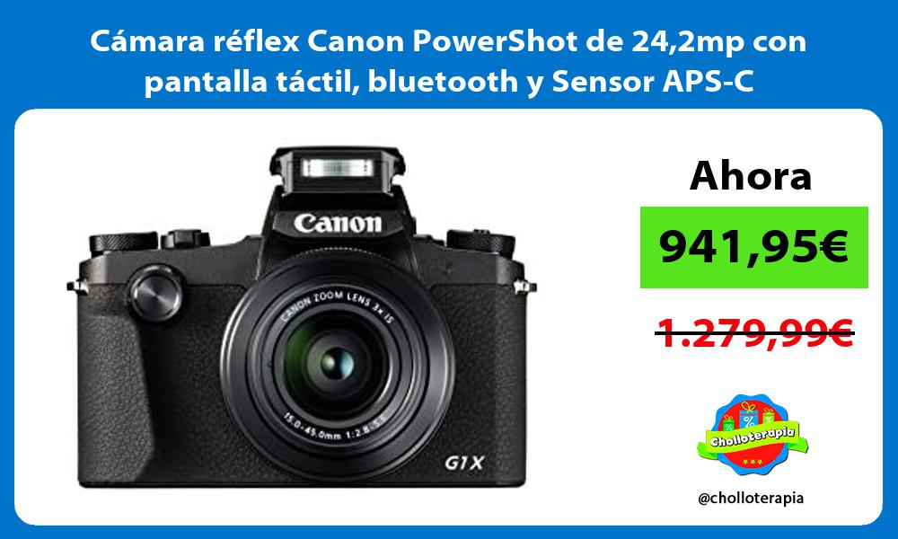 Cámara réflex Canon PowerShot de 242mp con pantalla táctil bluetooth y Sensor APS C