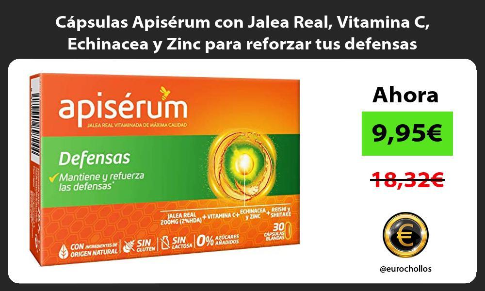 Cápsulas Apisérum con Jalea Real Vitamina C Echinacea y Zinc para reforzar tus defensas