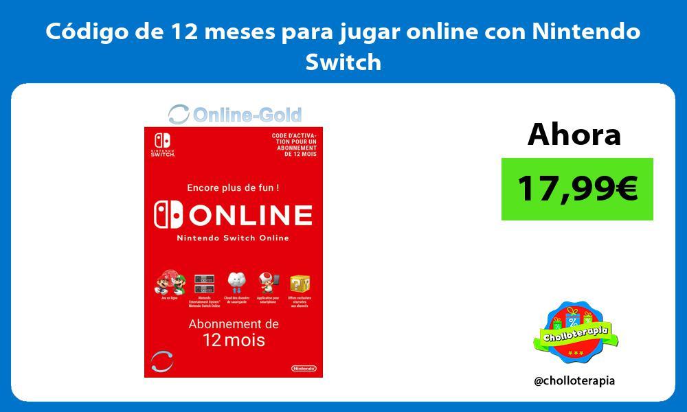 Código de 12 meses para jugar online con Nintendo Switch