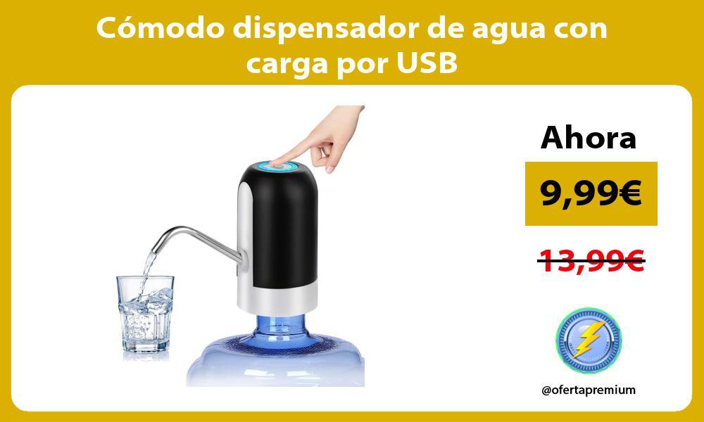 Cómodo dispensador de agua con carga por USB