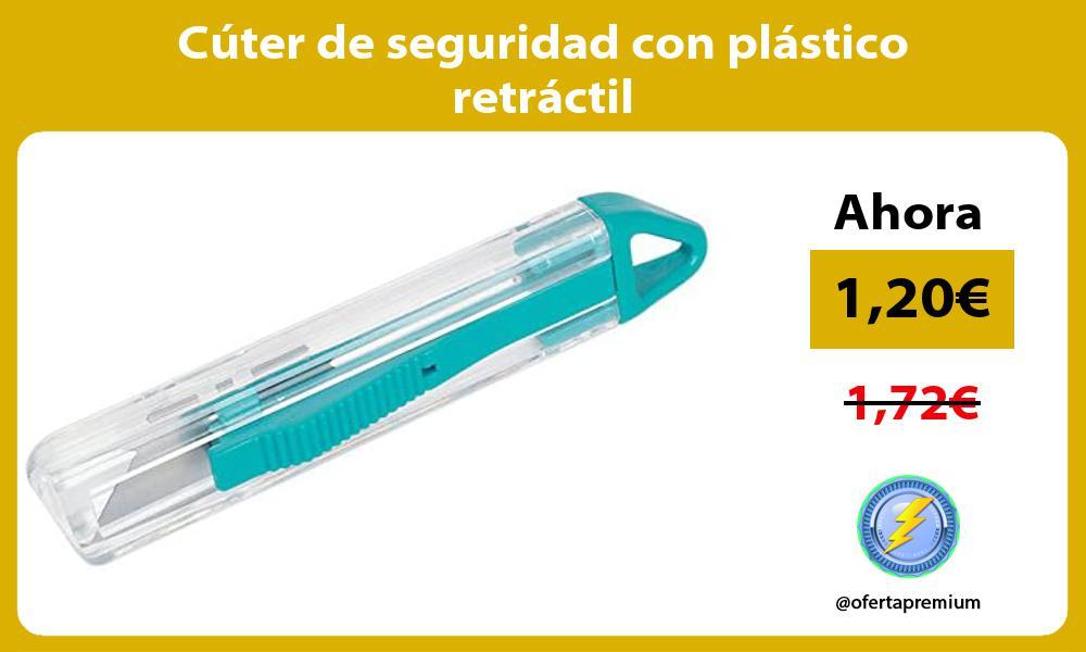 Cúter de seguridad con plástico retráctil