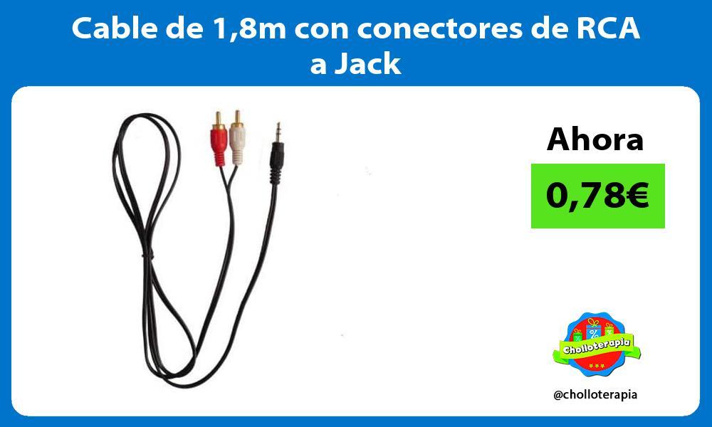 Cable de 18m con conectores de RCA a Jack