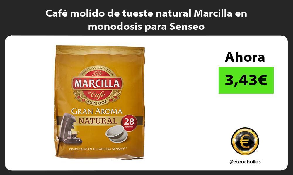 Café molido de tueste natural Marcilla en monodosis para Senseo