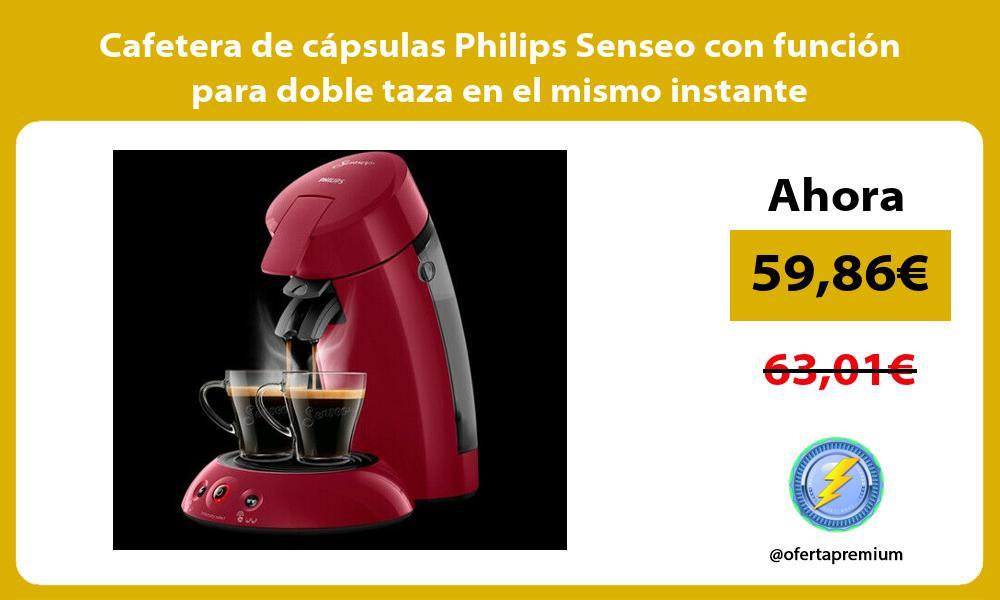 Cafetera de cápsulas Philips Senseo con función para doble taza en el mismo instante