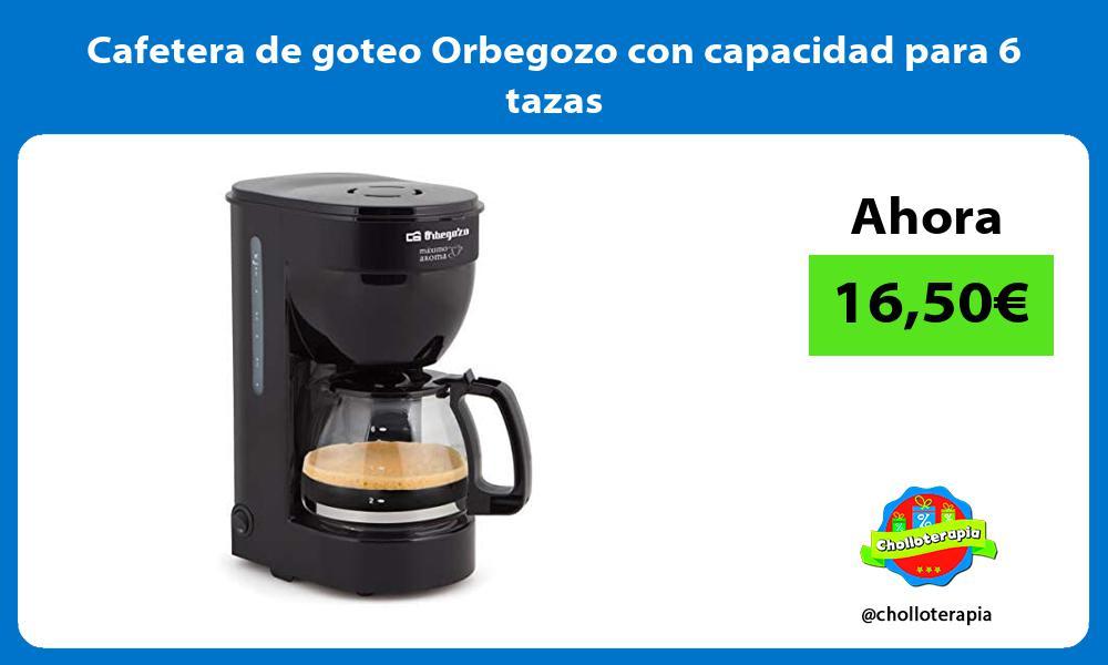 Cafetera de goteo Orbegozo con capacidad para 6 tazas