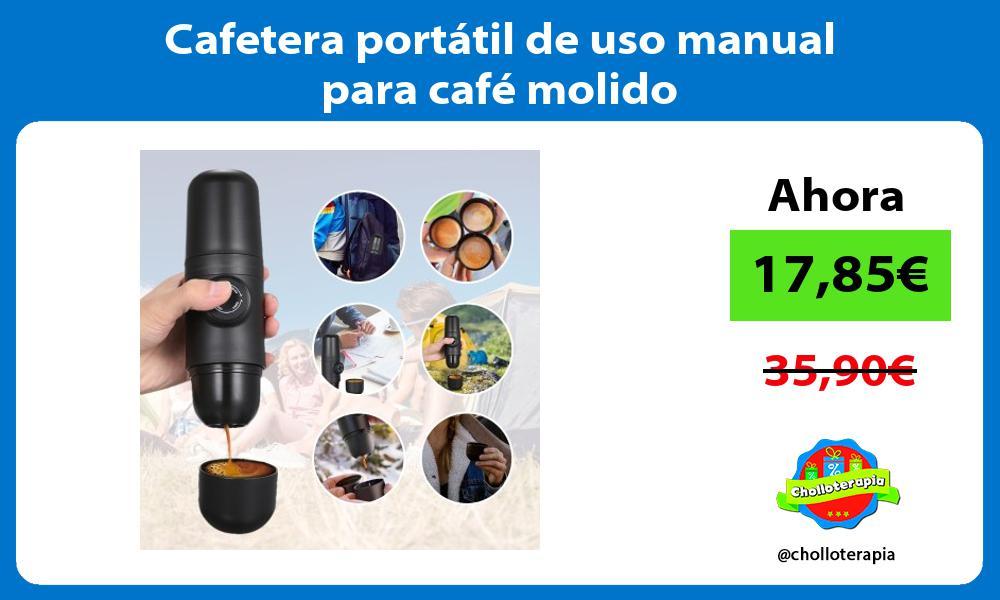 Cafetera portátil de uso manual para café molido