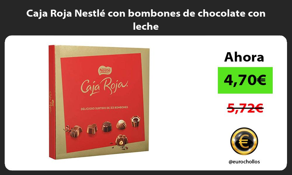 Caja Roja Nestlé con bombones de chocolate con leche