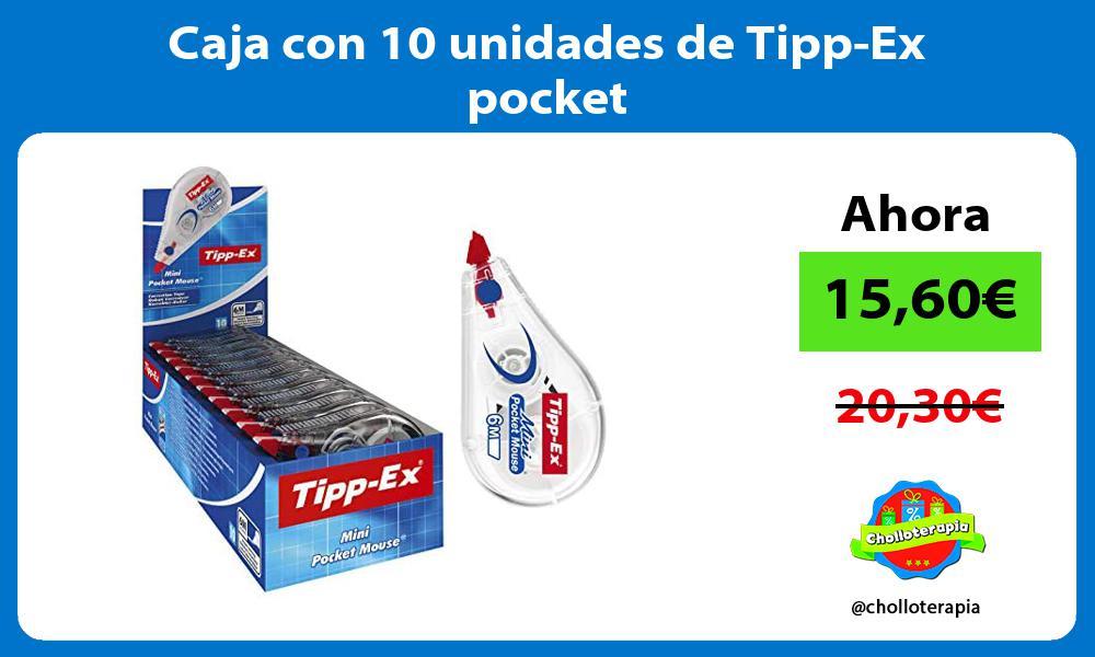 Caja con 10 unidades de Tipp Ex pocket