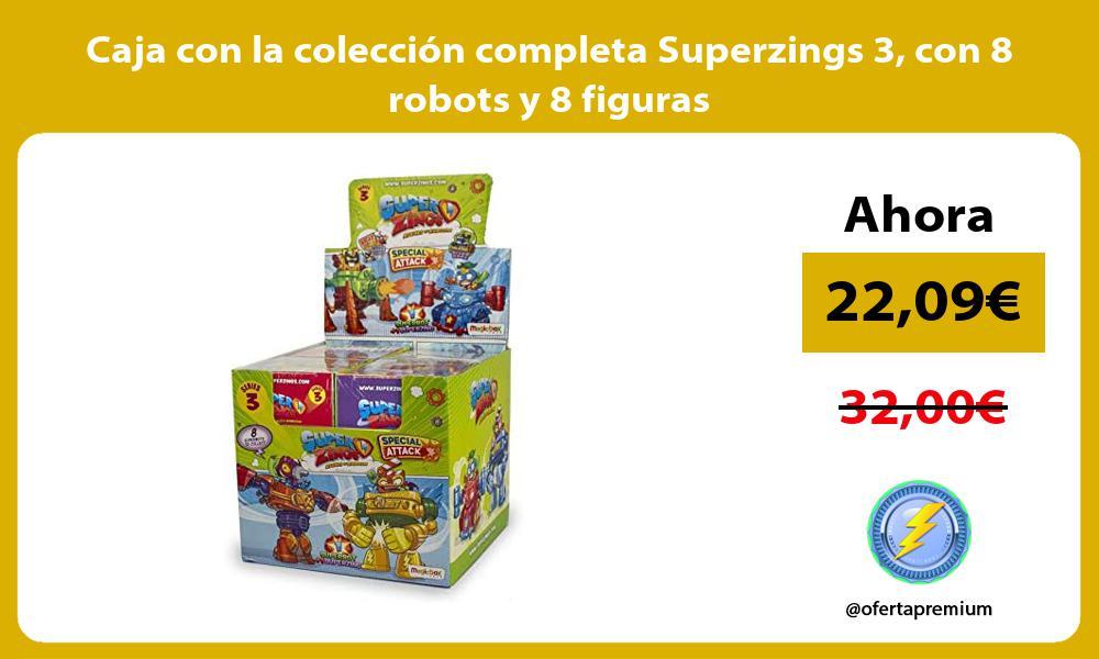 Caja con la colección completa Superzings 3 con 8 robots y 8 figuras