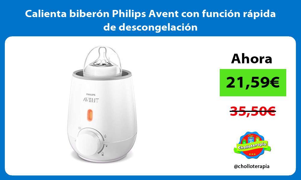 Calienta biberón Philips Avent con función rápida de descongelación