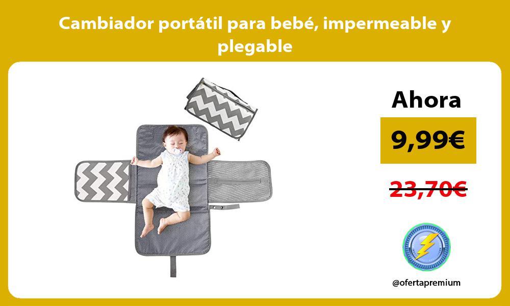 Cambiador portátil para bebé impermeable y plegable