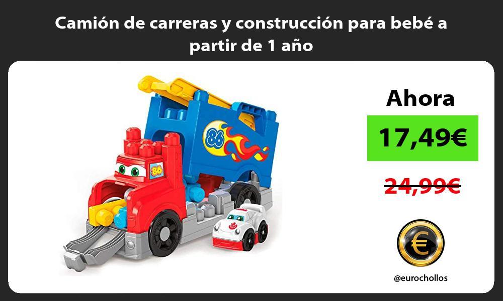 Camión de carreras y construcción para bebé a partir de 1 año
