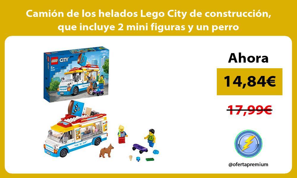 Camión de los helados Lego City de construcción que incluye 2 mini figuras y un perro