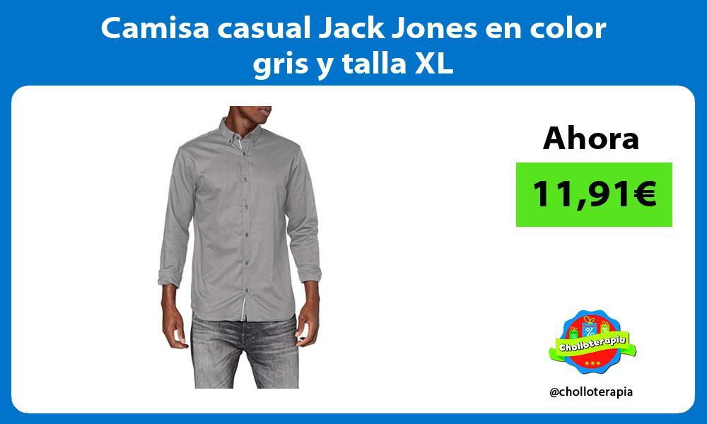 Camisa casual Jack Jones en color gris y talla XL