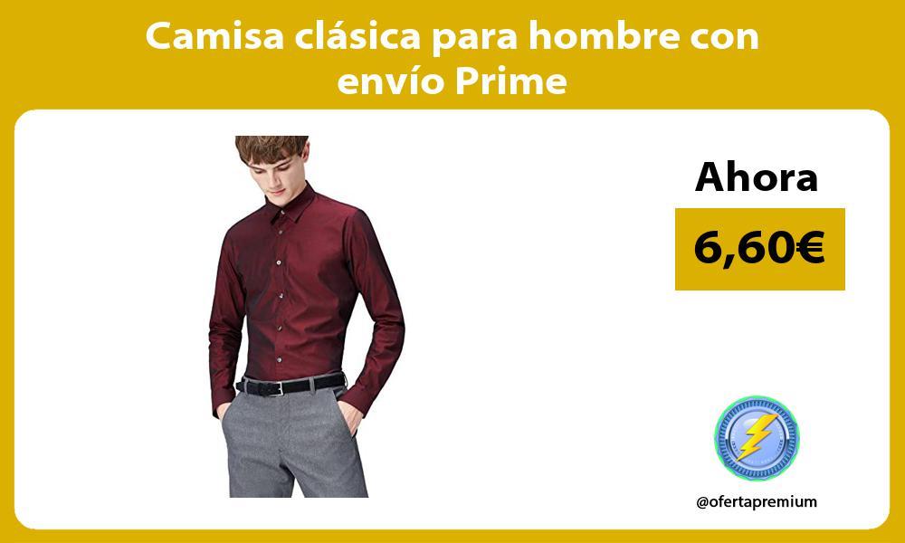 Camisa clásica para hombre con envío Prime