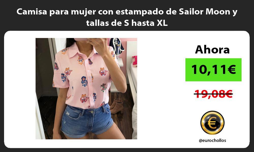 Camisa para mujer con estampado de Sailor Moon y tallas de S hasta XL