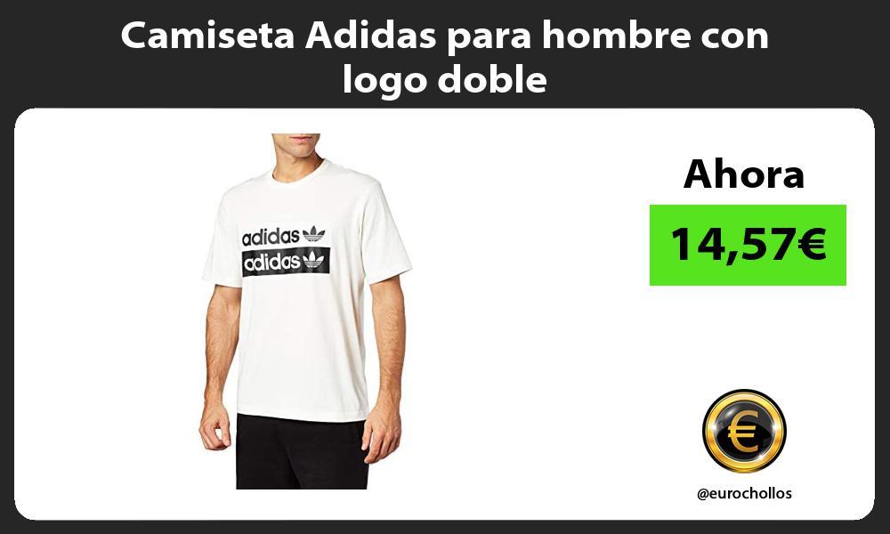 Camiseta Adidas para hombre con logo doble