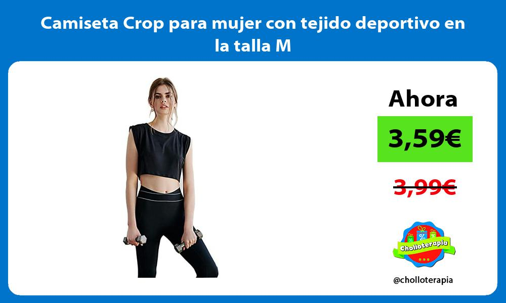 Camiseta Crop para mujer con tejido deportivo en la talla M