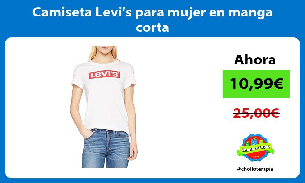 Camiseta Levis para mujer en manga corta
