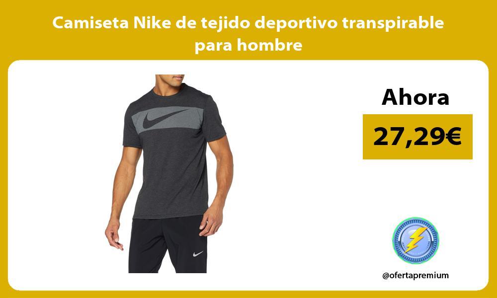 Camiseta Nike de tejido deportivo transpirable para hombre