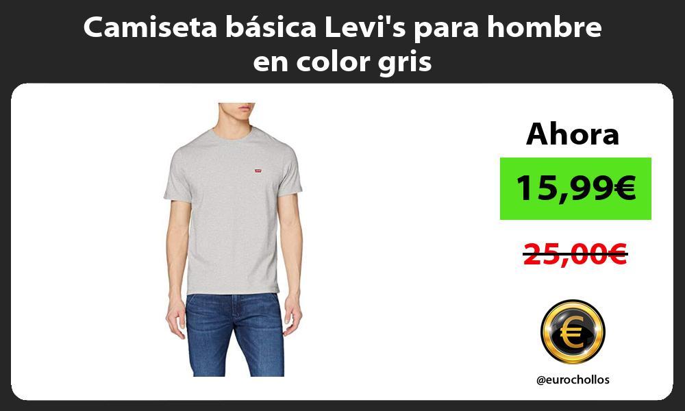 Camiseta básica Levis para hombre en color gris