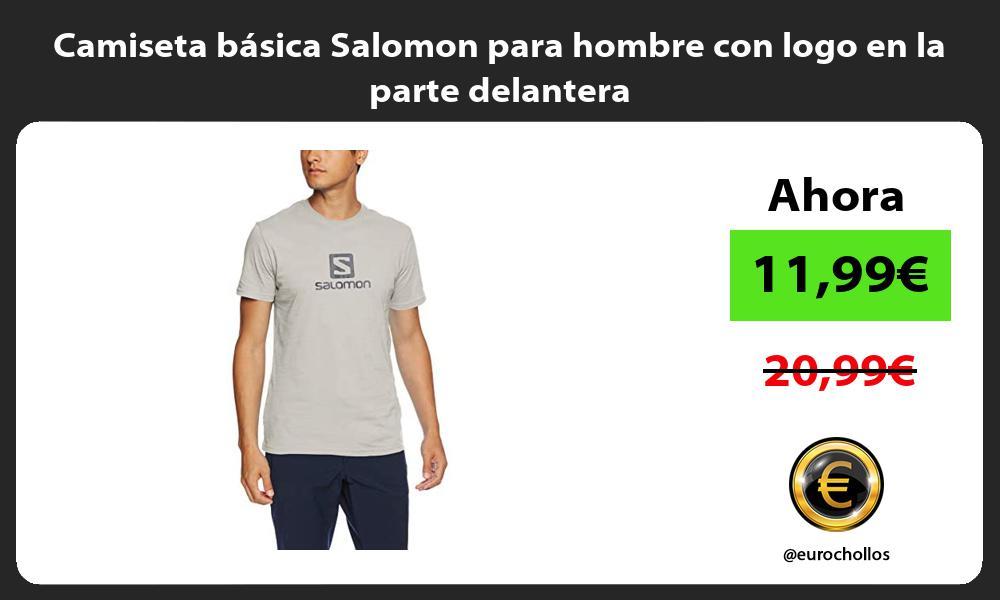 Camiseta básica Salomon para hombre con logo en la parte delantera