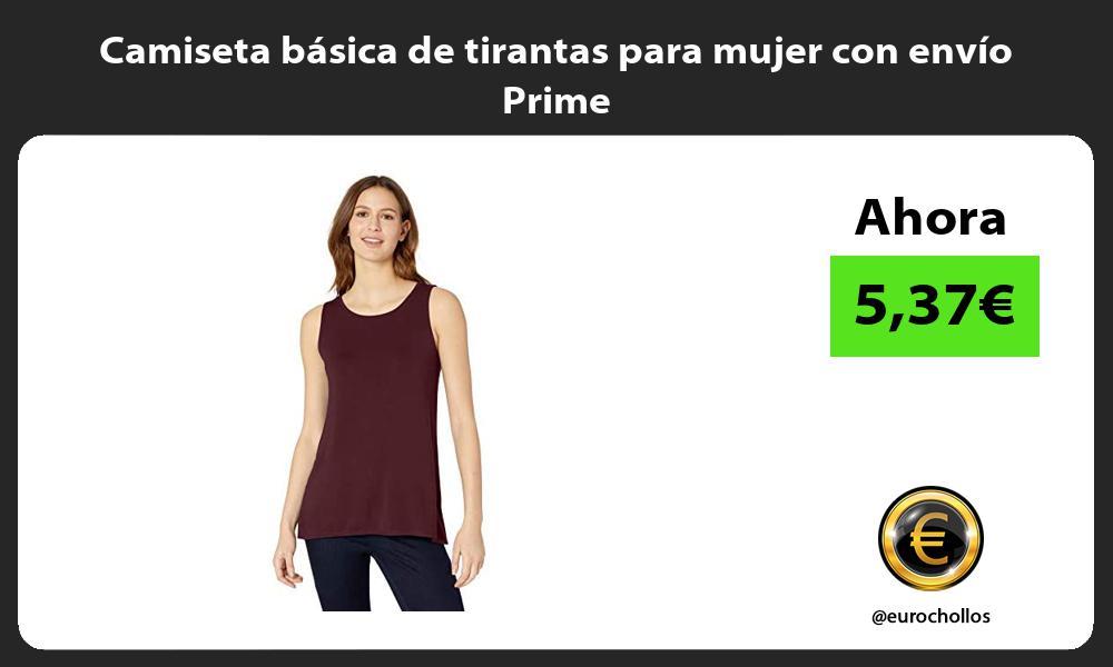Camiseta básica de tirantas para mujer con envío Prime