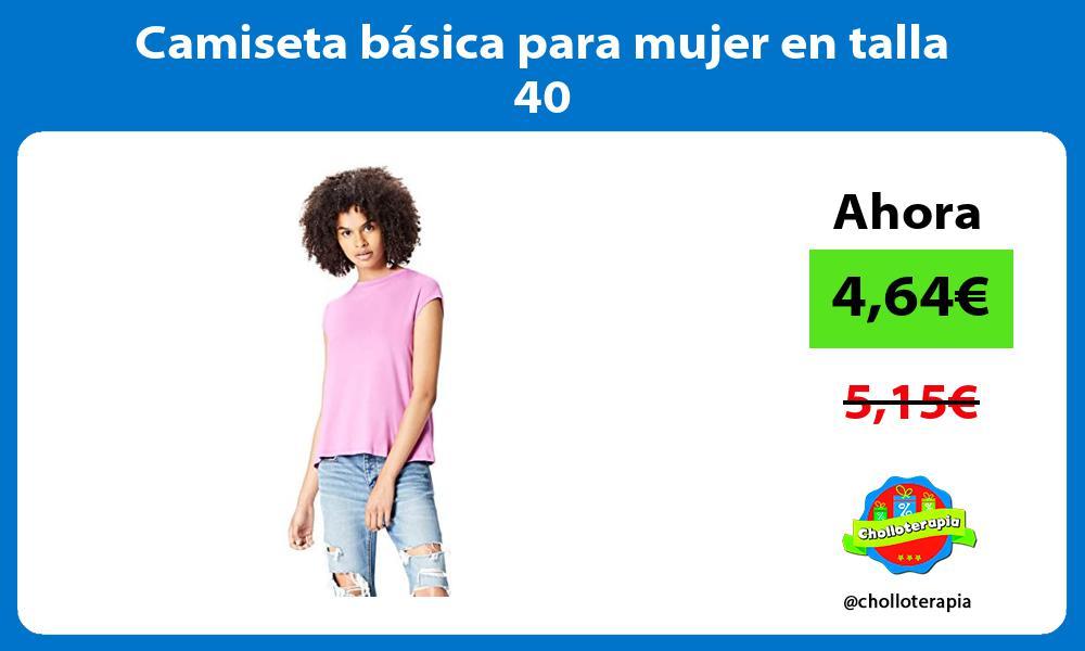 Camiseta básica para mujer en talla 40