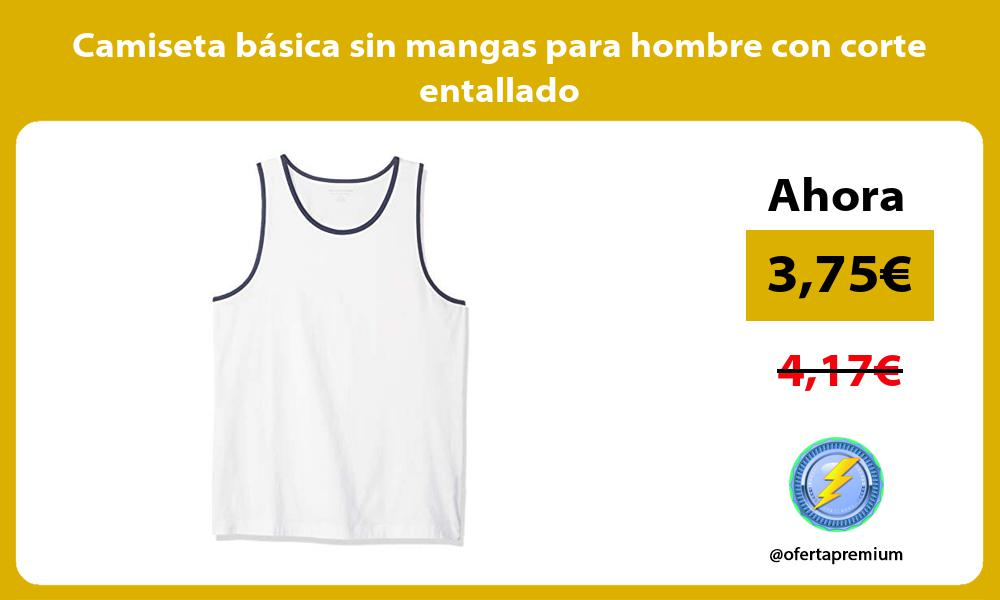 Camiseta básica sin mangas para hombre con corte entallado