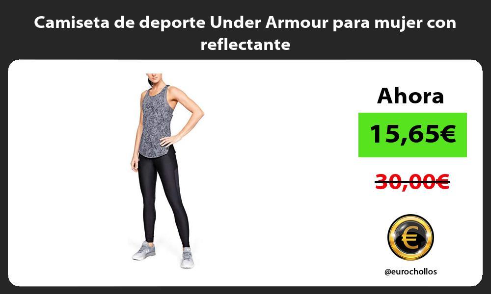 Camiseta de deporte Under Armour para mujer con reflectante